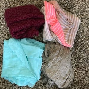 Accessories - 4 infinity scarves $6 for all